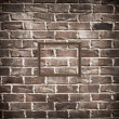 Empty frame on brick wall — Stock Photo #9604407