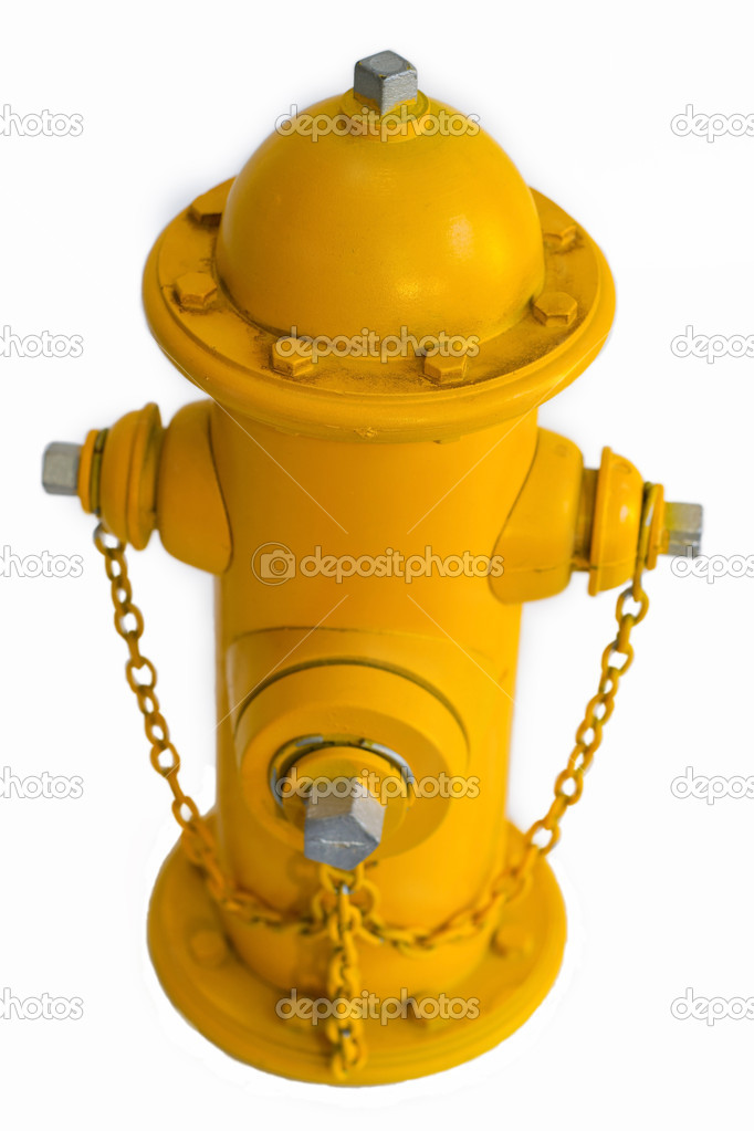 Little yellow miniature fire hydrant — Stock Photo #10171517