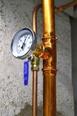 Heißes wasser-thermometer — Stockfoto