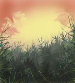 Abstrakta dekorativa landskap. — Stockfoto