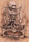 Stráž piratic kufru. — Stock fotografie