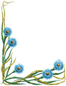 Decorative floral background. — Stock Photo
