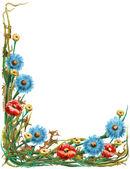 Fundo floral decorativo. — Foto Stock
