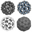 Buckminsterfullerene (buckyball, C60) - Stock Photo