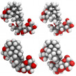 Stevioside molecules — Stock Photo