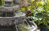 Calming Garden Waterfall — Stock Photo