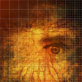 Vitruvian Man abstraction — Stock Photo