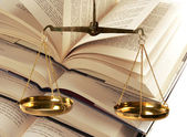Scales Of Justice - Law - Knowledge — Stock Photo
