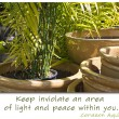 Keep peace within you - Stockfoto