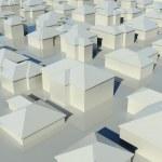 Flygfoto över grupp hus — Stockfoto
