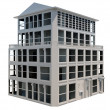Stock Photo: Abstract model of five storey building