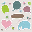 Collection of cute speech bubbles — Stock Vector