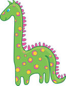 Nice green dinosaur — Stock Vector