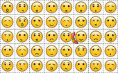 A set of yellow smileys — Stock Vector
