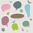 Stock Vector: Cute speech bubbles