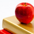 Red Apple on Books — Stock Photo #9376127