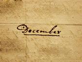 Handgeschreven december — Stockfoto