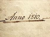 Anno 1810 — Stock Photo