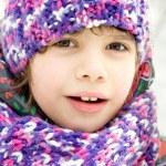 Happy girl in winter park — Stock Photo #9132906