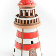 Lighthouse on white background. Ceramics — Stock Photo