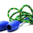 Mace and gymnastic rope — Stock Photo