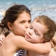 Stock Photo: Children on beach