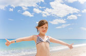 Girl on the beach — Stock Photo