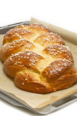 Home made sweet braided bread — Stock Photo