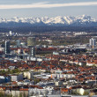 Munich with view of the bavarian alps at foehn wind - Photo