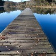 Stock Photo: Jetty on bathing lake in Bavaria, Germany