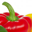 Stock Photo: Paprikpeppers on white background