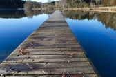 Jetty on a bathing lake in Bavaria, Germany — Stock Photo