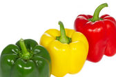 Paprika peppers on white background — Stock Photo