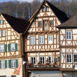 Historic half-timbered houses, Germany - Stock Photo