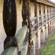 "Battlement walkway inside ""Comburg"" castle, Germany — Stock Photo"