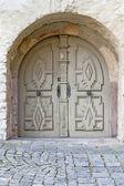 Zabytkowe drewniane drzwi — Zdjęcie stockowe