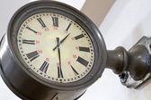 Old city (station) clock — Stock Photo