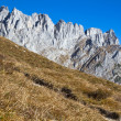 Hiking in the Austrian alps (Zahmer Kaiser Mountains) — Stock Photo