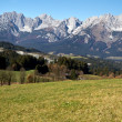 """Zahmer Kaiser"" mountains in Tyrol, Austria, in autumn - Stock fotografie"