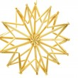 图库照片: Straw star on white background