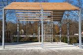 Construction of a storage facility — Stock Photo