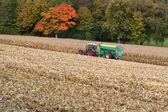 ババリア、ドイツのとうもろこしの収穫 — ストック写真
