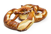 Typical bavarian pretzels — Stock Photo