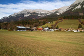 The village of Going on the foot of Zahmer Kaiser montains, Tyrol, Austria — Stock Photo