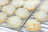 Coconut macaroons christmas cookies — Stock Photo