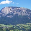 Panoramic view of the 'Schlern' mountain in Italy — Stock Photo