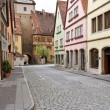 City of Rothenburg with an ancient tower - 图库照片