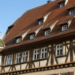 Medieval facade of Rothenburg, Germany - Stockfoto