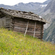 Mountain hut in South Tyrol, Italy — Stock Photo