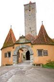 μεσαιωνικός πύργος στο rothenburg, γερμανία — Φωτογραφία Αρχείου